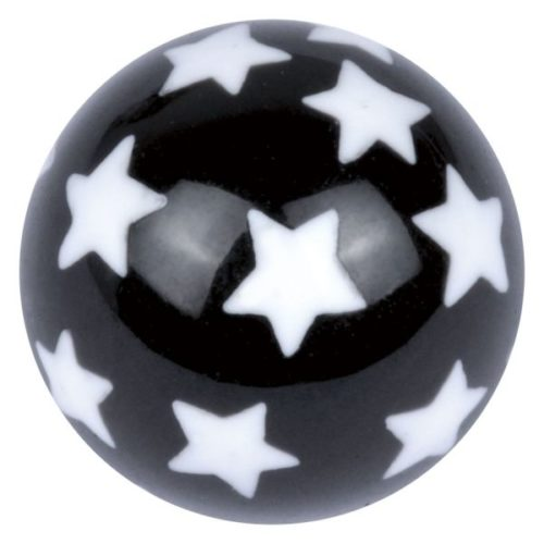 Acrylic Design Black Ball/ White Stars