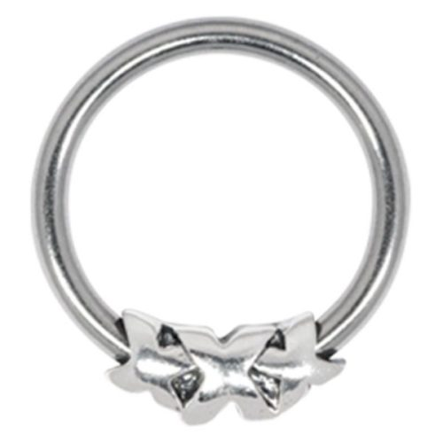 Steel Basicline® Closure Ring Silver Triple X