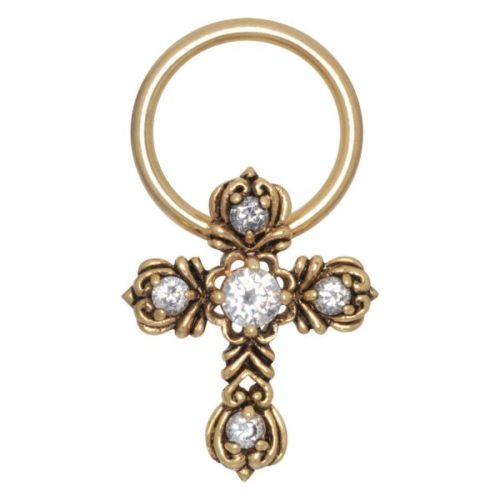 Steel Zirconline® - Gothic Cross S1,6/O12,0