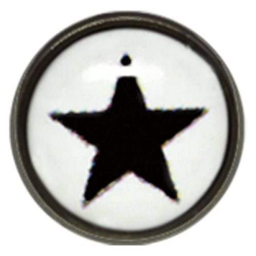 "Titan Blackline® Internally Threaded Ikon Disk ""Black Star on White"""
