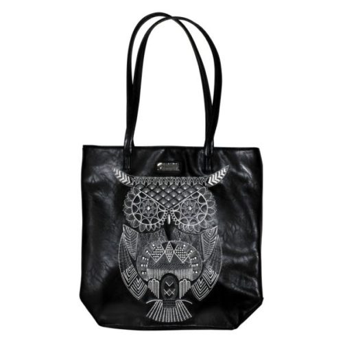 Loungefly - Black Owl Fashion Tote schwarz/weiß