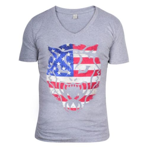 "Wildcat® Highline® Vintage V-Shirt ""USA Print"""