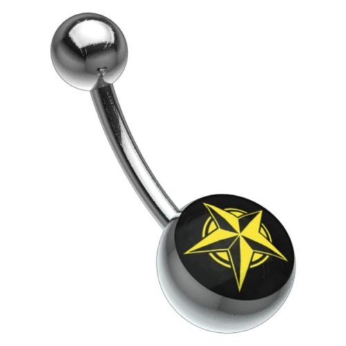 Titan Highline® Picturebell Five Pointed Star Black/Yellow