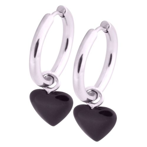 Little Heart Hoops Black