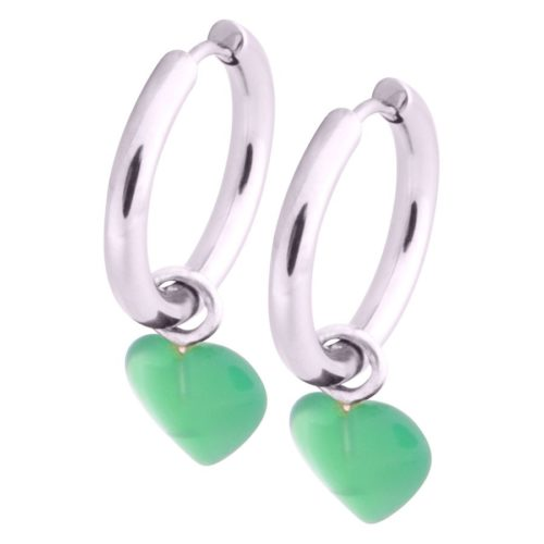 Little Heart Hoops Green