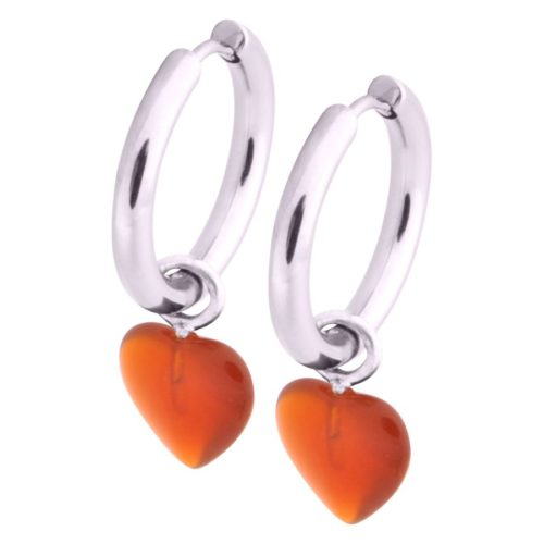 Little Heart Hoops Orange